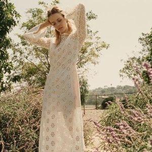 Doen Francoise Eyelet Maxi Dress Salt White